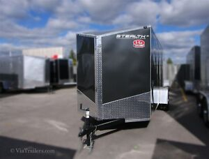2017 Stealth Trailers Titan SE enclosed 6x10 with ramp