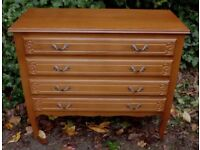 Ornate Vintage French Louis XIV Style Beech Chest of Drawers, Painting Project