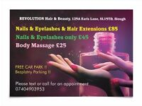 Nails + Eyelashes Extension £40 ... 30% off