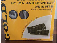Gold's Gym Wrist And Ankle 5kg total 2.5kg each adjustable Weights (Bath BA2 Area)