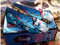 Irregular Choice Disney Alice in Wonderland Card Soldiers Flats, Size 5