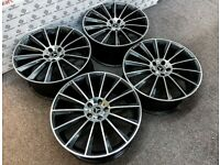 "BRAND NEW 18"" 19"" 20"" MERCEDES AMG TURBINE STYLE ALLOY WHEELS *TYRES AVAILABLE* 5x112 - BLK/DIAMOND"