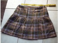Boden Tartan British Tweed Skirt Kilt Size 14R