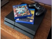 Playstation 4 with GTA V and Dark Souls III