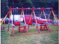 fairground ride swing boats