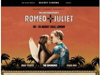 2 x tickets to Romeo and Juliet Secret Cinema 17th August (£50 each)