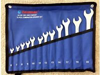Spanner Set 12pc combination 6,7,8,9,10,11,12,13,14,17,19, 22mm Spanners