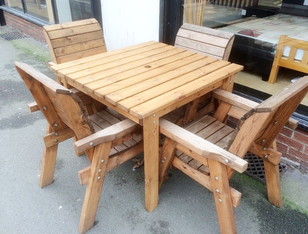 CHARLES TAYLOR - Outdoor Patio , Solid Wood GARDEN ...