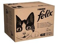 Felix Mixed Selection Wet Cat Food Pouches 120 pk, 50% in Gravy, 50% in Jelly