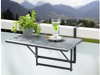 Small Folding hanging Table, for balcony, patio, garden, railings, BBQ, Hanging Shelf, railings