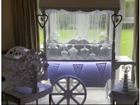 Candy/sweet/cupcake cart and Ferris Wheel and Ferrero Rocher Stand and card box and cage for hire