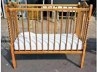 Vintage oak babies cot