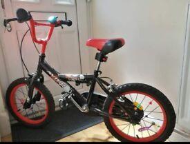 "Excellent condition boys Avigo bmx bike. 16""wheels. Always been stored inside."