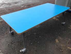 LARGE MEETING TABLE ON WHEELS FOR OFFICE OR SHOWROOM £100