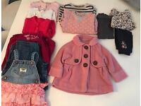 Baby girl 9-12 month clothes bundle