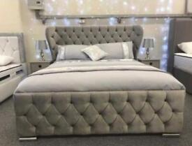 BUTTERFLY BED DOUBLE/KING SIZE WITH/WITH OUT ORTHOPAEDIC MATTRESS DIFFERENT FABRIC AND COLOURS