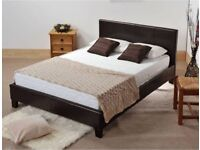 BRAND NEW FAUX LEATHER BED FRAME IN DOUBLE / KINGSIZE & CHOICE OF ORTHOPEDIC MEMORY FOAM MATTRESSES