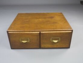 Vintage Oak Filing Drawers, Great Condition