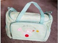 Cute as a button changing bag