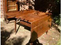 Gate leg antique table