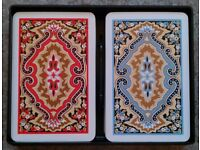Dual Pack Of Kem 'Paisley' Playing Cards (plastic case)