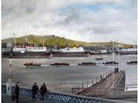 Cross Channel Ferries From Queen's Bridge - Belfast cira 1960