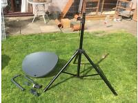 Portable Satellite Dish and FTA Satellite Box