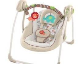 Baby swing (toy bar damaged)
