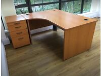 Large Office Desk with cabinet drawers