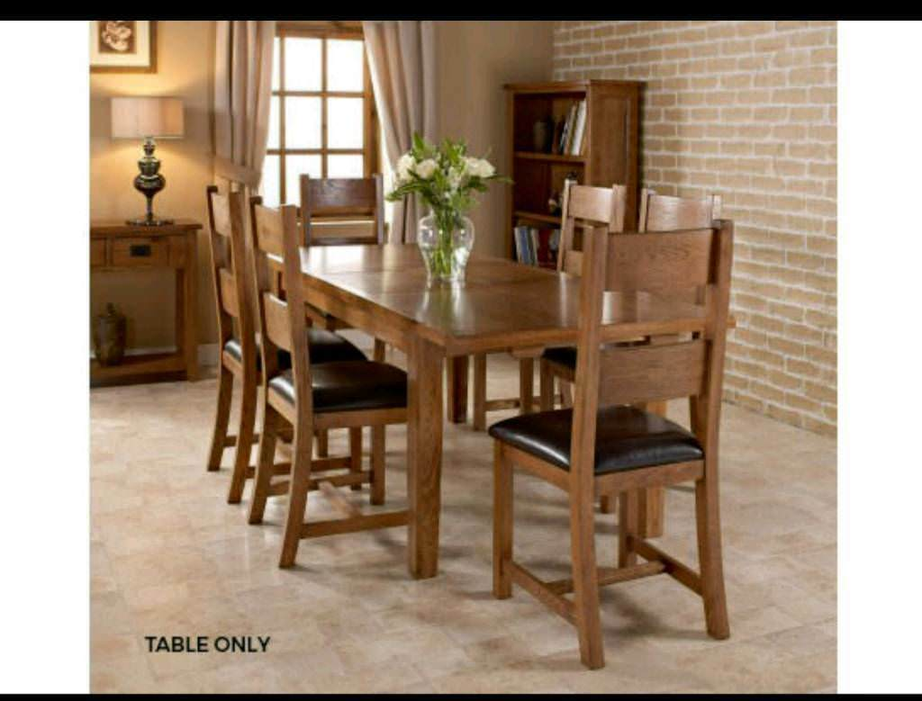 Dorset Dining Table Solid American White Oak Combined With Partial Only