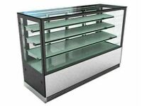 Cake counter Display Fridge 1500x700x1200mm 2 shelves Mirror front LED Commercial