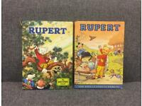2 x vintage retro 1970s RUPERT THE BEAR Annuals Daily express rare cartoon Christmas Gift SDHC