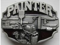 Painter & Decorator Belt Buckle.