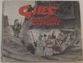 GILES No.1 FIRST EDITION 1943-46 ORIGINAL cartoon annual.