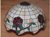 Large vintage Tiffany ceiling light shade.