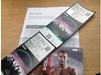 2 x Anthony Joshua v Klitschko Boxing Tickets, April 29th. Price for both