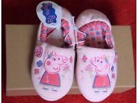 GIRLS PEPPA PIG SLIPPERS UK 13 KIDS EU 32 PINK MOTHERCARE BNWT CUTE RRP10
