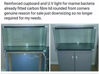 110 litre fish tank with assessories ,refurbished so it can be used for marine but suitable for all