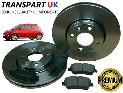 FOR NISSAN MICRA K12 02-09 FRONT BRAKE DISCS AND PADS SET 02-09 PREMIUM QUALITY