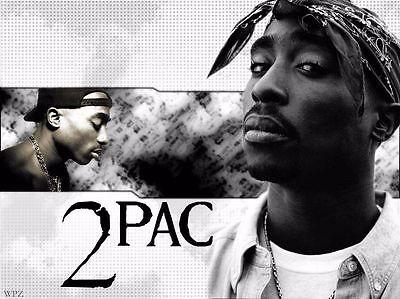 Tupac Shakur 2Pac Hip Hop Star Pop Art Deco Poster Wall Fabric Canvas 2023