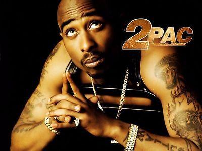 Tupac Shakur 2Pac Hip Hop Star Pop Art Deco Poster Wall Fabric Canvas 2024