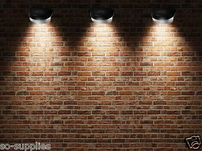 12 X SOLAR POWER POWERED DOOR FENCE WALL LIGHTS LED OUTDOOR GARDEN SHED LIGHTING