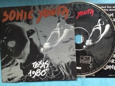 Sonic Youth ‎– Texas 1986 (continental AUSTIN)-RARE 1992 IMPORT SILVER CD