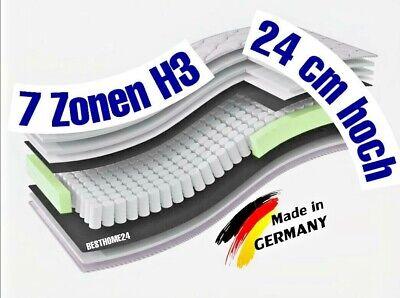 Matratze 90x200 cm 7 Zonen Taschenfederkern XXL Höhe 24 cm H3 Bett Orthopädisch