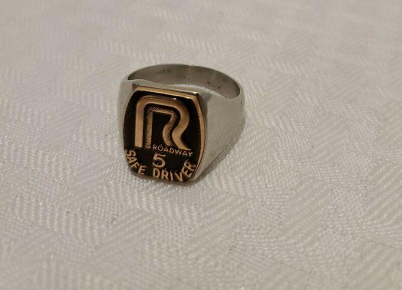 Vintage Roadway Trucking Safe Driver 5 year Award Ring