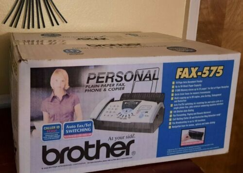 Brother Fax-575 Personal Plain Paper Fax Machine Phone & Copier New in Box