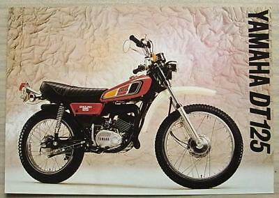YAMAHA DT 125 MOTORCYCLE Sales Specification Leaflet c1977 #LIT-3MC-0107019, used for sale  Leicester