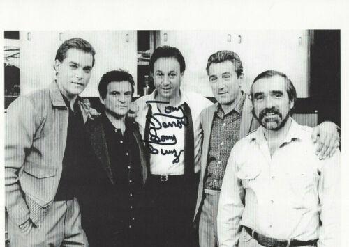 Goodfellas Tony Darrow  autographed 8x10 photo with Pesci, Diniro