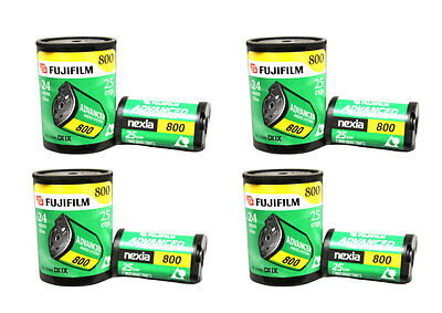 4 Rolls Fuji Aps 800 25 Exposure Film Nexia Advantix Advanced Photo System Bulk