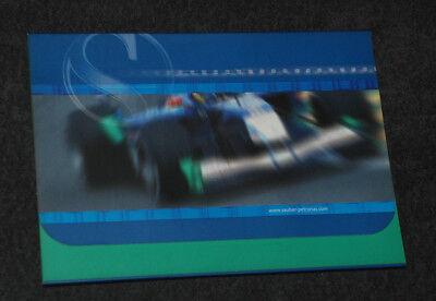 Formula1 Formel1 Sauber Petronas Pressemappe Press Media Kit Launch 2002